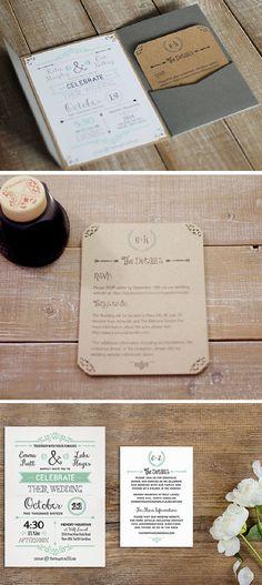 Free Printable Template | Easy to Make Wedding Invitation Ideas
