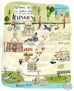 August Wren  - Map of Irvington