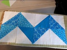 Beginners Watch The Videos & See How Simple Chevron Quilts Are Made! Simple Fast Zig Zags, Diamonds, or Arrows. - Page 3 of 4 - Keeping u n Stitches Quilting Chevron Quilt Tutorials, Chevron Quilt Pattern, Pattern Blocks, Quilt Patterns, Quilting Tips, Quilting Tutorials, Quilting Designs, Cute Quilts, Boy Quilts
