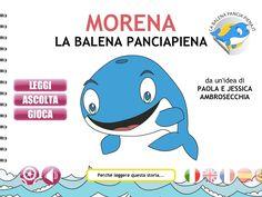 Morena la balena pancia piena è un App educativa per bambini, disponibile sull' App Store. Una storia interattiva con suoni e animazioni disponibile in più di dieci lingue: Italiano, Inglese, Francese, Spagnolo, Portoghese, Svedese, Catalano, Ungherese, Giapponese, Rumeno e Olandese.  http://labalenapanciapiena.it/app/ https://itunes.apple.com/it/app/morena-the-full-belly-whale/id666194664?l=it=1=8