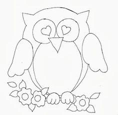 desenho de corujinha apaixonada para pintar