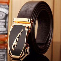 2017 hot designer belt men high quality luxury fiber leather gold jaguar 140 cm 150 160 big size plus automatic buckle car style  #kids #L09582 #WomenWallets #backpack #handbags #highschool #Happy4Sales #YLEY #bag #shoulderbags #bagshop #fashion  #NewArrivals