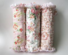 Shabby Cottage Chic Baby Girl Burp Cloths by LittleTreasureQuilts, $33.00