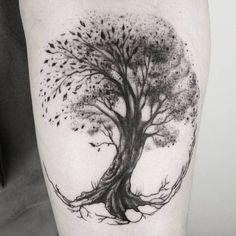 Dna Tattoo, Tattoo Life, Forearm Tattoos, New Tattoos, Tattoos For Guys, Tatoos, Tree Sleeve Tattoo, Tree Tattoo Men, Tree Tattoo Designs