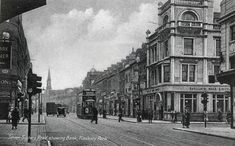 Finsbury Park, Seven Sisters Road & St Thomas's Road looking east London History, Local History, Vintage London, Old London, North London, East London, Old Pictures, Old Photos, Finsbury Park