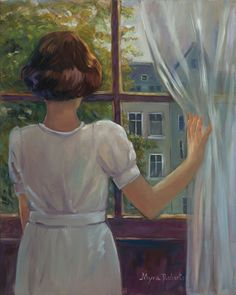 Summer Window Original oil painting by Myra Roberts Anne Frank Quotes, Painting People, Forest Fairy, Window Art, Museum Exhibition, Illustration Art, Illustrations, Serenity, My Arts