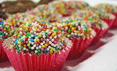 brigadeiros with colored sprinkles