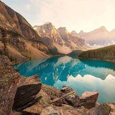 Moraine Lake, Alberta, Canada. Photo - @argenel. #OurLonelyPlanet #Alberta #Canada
