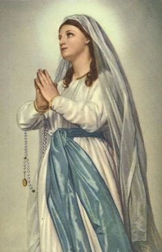 Madonna di Lourdes An Italian image of Our Lady of Our Lady of Lourdes ~ All About Mary. Divine Mother, Blessed Mother Mary, Blessed Virgin Mary, Catholic Art, Catholic Saints, Religious Art, La Salette, Images Of Mary, Our Lady Of Lourdes