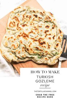 Looking for a tasty lunch or dinner? Try this gozleme with spinach and feta recipe. This Turkish flatbread is unleavened so done in no time and so tasty! Veggie Recipes, Appetizer Recipes, Vegetarian Recipes, Healthy Recipes, Tortilla Recipes, Healthy Food, Appetizers, Mexican Dinner Recipes, Turkish Recipes