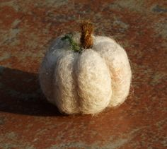 Needle Felted Pumpkin in White by builtonbranches on Etsy, $12.00
