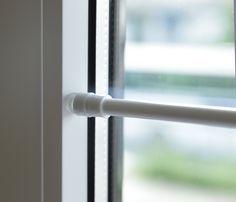 Tür- Fenster- Klemmstange Gardinenstange ohne Bohren für Scheibengardinen oder Türvorhänge #1166 (weiß, 40 bis 60 cm): Amazon.de: Küche & Haushalt