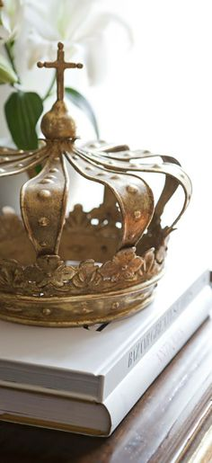 Love that crown! Regalia Crown by Ebanista from Collection Ten Crown Royal, The Crown, French Chic, French Vintage, French Country, Country Chic, Crown Decor, Invisible Crown, Daughters Of The King