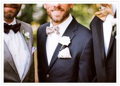 colorful pocket squares and bow ties
