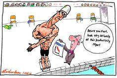 Olympic Productivity, Nicholson, The Australian | Political Cartoons Australia