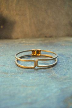 Image of NEW: ancient rectangle hinge bracelet