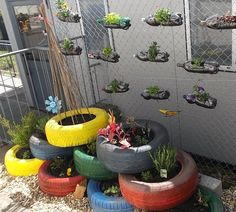 Brilliant ideas for repurposing containers: Recycling and Planting at Little Angels School