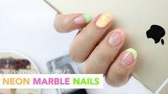 Easy Summer Nail Art | Marble Nails