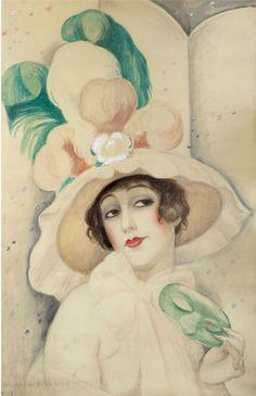 Gerda Wegener,  (1886-1940), 1928, Karneval, Lily, Paris.  on ArtStack #gerda-wegener #art