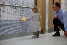 interactive installation at children's hospital by jason bruges studio #design #allestimenti