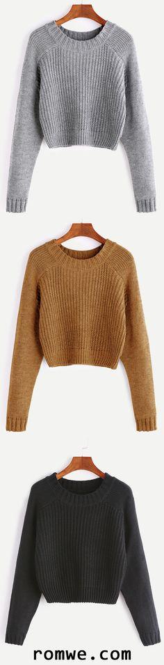 Raglan Sleeve Crop Sweater https://bellanblue.com