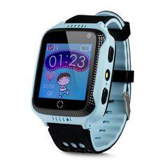 Wonlex GW500S GPS KIDS, Ceas inteligent pentru copii cu functie telefon, GPS, camera, lanterna, monitorizare spion, buton SOS Smartwatch, Sims, Watches, Phone, App, Lantern, Watch, Deutsch, Blue