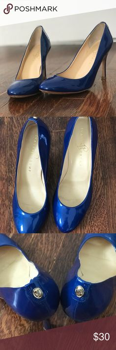 Royal Blue High Heels Pumps Royal Blue Ivanka Trump Janie High Heels 6 1/2 M  Wear on the bottom, but great condition otherwise. Ivanka Trump Shoes Heels