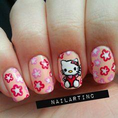 hello kitty by nailartinc #nail #nails #nailart