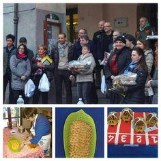Premiazione del #porcospino a #mercatosaraceno. Noi eravamo fuori concorso con la torta di zia Elia
