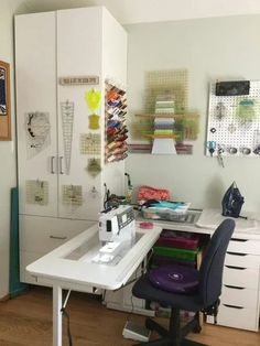 and Tool Storage Idea Look at all of this amazing ruler storage in this sewing room shared at our WeAllSew Community from adroege!Look at all of this amazing ruler storage in this sewing room shared at our WeAllSew Community from adroege! Sewing Room Design, Sewing Room Storage, Craft Room Design, Sewing Spaces, Sewing Room Organization, My Sewing Room, Craft Room Storage, Sewing Studio, Studio Organization