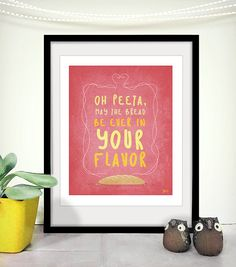 Printable Art Peeta Love Hunger Games Inspired Funny. $8.00, via Etsy.