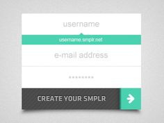 Smplr - Quick Signup designed by Emre Mazursky. Connect with them on Dribbble; Typography Logo, Mint Chocolate, Create Yourself, Notes, Design Inspiration, Graphic Design, Simple, Report Cards, Layout Inspiration