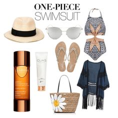"""""""swim on !!"""" by cocogirlxoxo ❤ liked on Polyvore featuring Mara Hoffman, M&Co, Do Everything In Love, Kate Spade, Chicnova Fashion, Eugenia Kim, Clarins and onepieceswimsuit"""