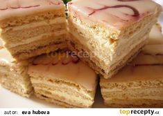 Slovak Recipes, Czech Recipes, Ethnic Recipes, Vanilla Cake, Baked Goods, Sweet Tooth, Cheesecake, Deserts, Food And Drink