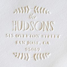 embosser personalized stationery | weddingpaperdivas
