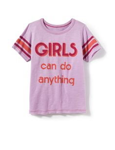 Girls Can Do Anything Tee - Tops + Tees - Categories - girls | Peek Kids Clothing