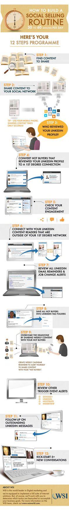 How to build a social selling routine #infografia #infographic #socialmedia
