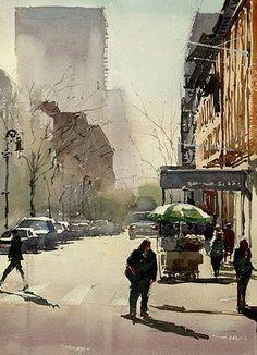 Watercolor artist  Kazuo Kasai (Japanese: 1955)