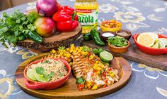 Home & Family - Recipes - Cristina Cooks: Bright And Spicy Chicken With Mango Salsa Mango Salsa Chicken, Spicy Chicken Recipes, Cooking Recipes, Healthy Recipes, Family Meals, Family Recipes, Salsa Recipe, Lunches And Dinners, Food Dishes
