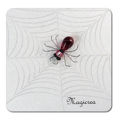 ARAIGNEE PERLES ROUGE ROSE - Boutique www.magicreation.fr