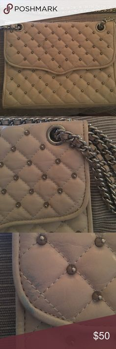 Rebecca Minkoff Purse White Rebecca Minkoff enevelop purse with studded detail. A couple of small stains but overall in good condition. Rebecca Minkoff Bags Shoulder Bags