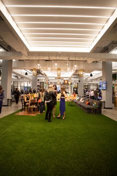 Membership perks include a bocce ball court (don't worry, the grass is fake)…