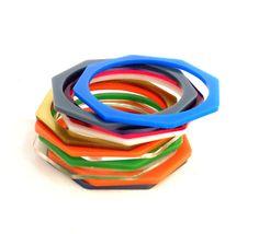 Octagon Acrylic Bracelets. Just pick a color. Unique color choice