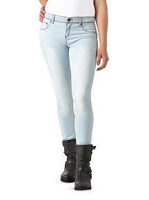 Light Wash Faux Front Pocket Stretchy Skinny Jeans