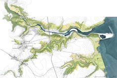 Landscape focus, projet lauréat à Saint-Brieuc, Europan 13