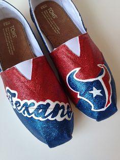 Custom TOMS or BOBS Houston Texans.. Go Texans