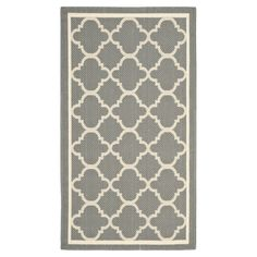 Indoor/outdoor+rug+with+a+quatrefoil+trellis+motif.+Made+in+Turkey.++  Product:+RugConstruction+Material:+Polypro...