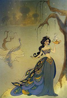 Jasmine. Gorgeous Disney art, inspired by Aladdin