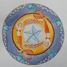 watercolor Decorative Plates, Mandala, Watercolor, Home Decor, Pen And Wash, Watercolor Painting, Decoration Home, Room Decor, Watercolour
