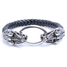 Exquisite Oval Alloy Fastener Round Bracelet For Men